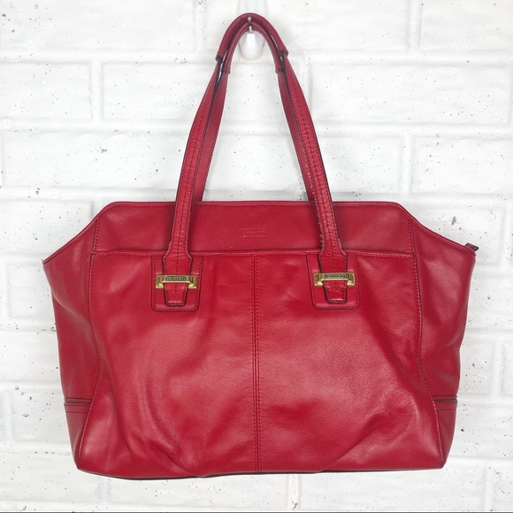 Coach Handbags - COACH Alexis Carryall Satchel | Red Leather